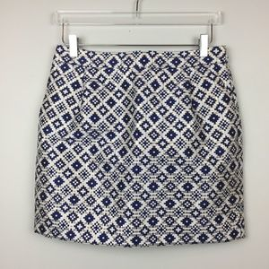 J. Crew | Geo Aztec Jacquard Mini Party Skirt